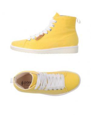 Высокие кеды и кроссовки PÀNCHIC. Цвет: желтый