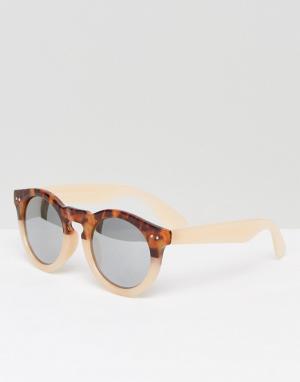 7X Круглые солнцезащитные очки. Цвет: бежевый