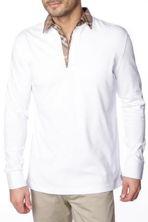 Рубашка-поло GAZOIL. Цвет: белый