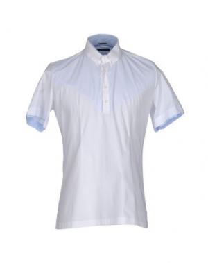 Pубашка DANIELE ALESSANDRINI. Цвет: белый