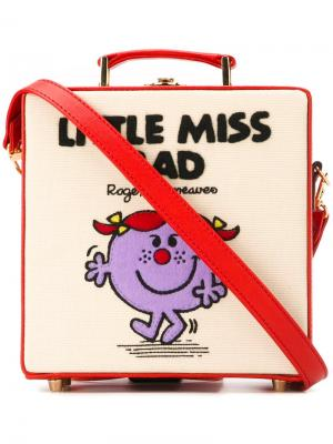 Маленькая квадратная сумка-тоут Little Miss Bad Olympia Le-Tan. Цвет: красный