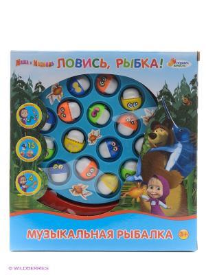 Игра рыбалка Маша и медведь Играем вместе. Цвет: синий, зеленый, красный, желтый