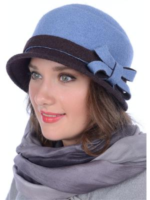 Шляпа Сиринга. Цвет: голубой, темно-коричневый