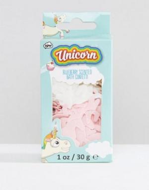 Beauty Extras Блестящие конфетти для ванны в виде единорогов. Цвет: бесцветный