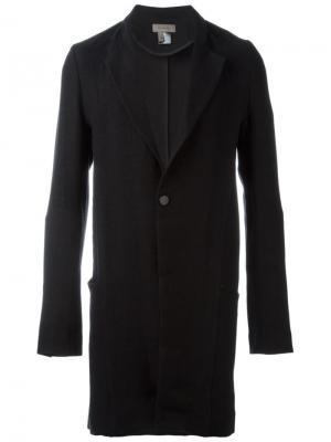 Пальто с застежкой на одну пуговицу Tony Cohen. Цвет: чёрный