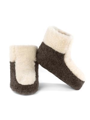 Тапочки ALWERO. Цвет: коричневый, молочный