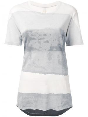 Выбеленная футболка Raquel Allegra. Цвет: серый