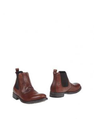 Полусапоги и высокие ботинки VIA DEI CALZAIUOLI. Цвет: коричневый