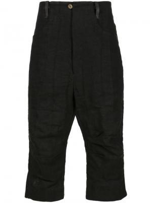 Укороченные брюки A Diciannoveventitre. Цвет: чёрный