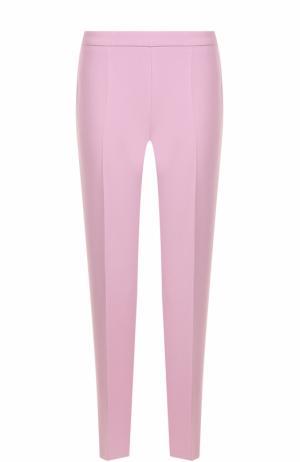 Укороченные прямые брюки со стрелками BOSS. Цвет: розовый