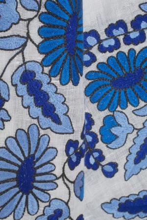 Льняная блузка Grapevine Vita Kin. Цвет: белый, голубой