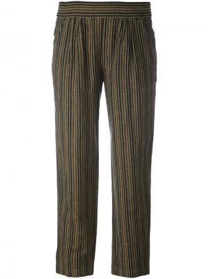 Полосатые брюки Masscob. Цвет: серый