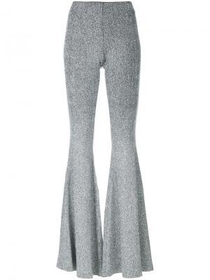 Расклешенные брюки с блестками Filles A Papa. Цвет: металлический