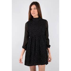 Платье короткое с рукавами 3/4 MOLLY BRACKEN. Цвет: черный