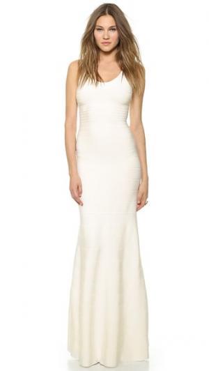 Вечернее платье Ellen Herve Leger. Цвет: алебастровый