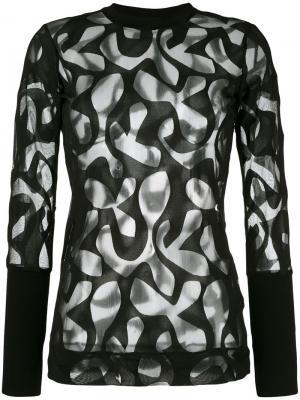 Блузка Urulla By Malene Birger. Цвет: чёрный