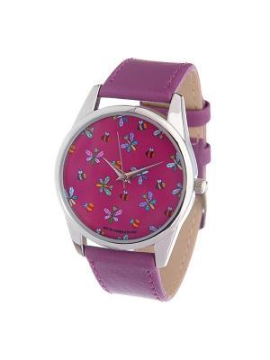 Часы Mitya Veselkov Стрекозы и пчелки. Цвет: лиловый