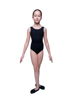 Гимнастический купальник KICKERS. Цвет: черный