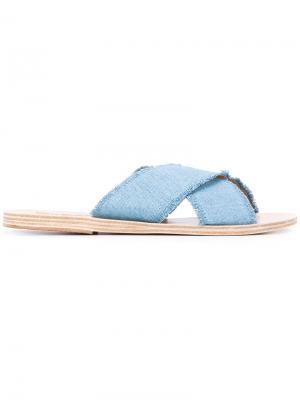 Джинсовые сандалии Ancient Greek Sandals. Цвет: синий