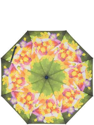 Зонт Labbra. Цвет: темно-зеленый, желтый, фиолетовый
