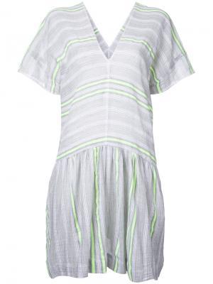 Свободное платье в полоску Lemlem. Цвет: серый