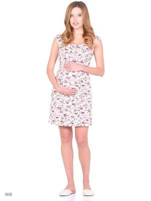 Сорочка для беременных и кормления Nuova Vita. Цвет: белый, бледно-розовый, кремовый
