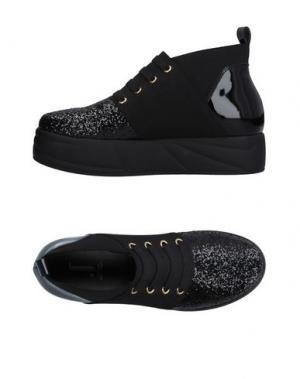 Высокие кеды и кроссовки JEANNOT. Цвет: черный