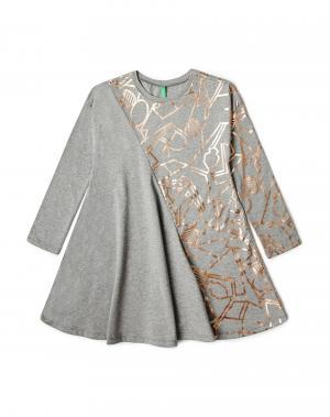 Платье Benetton. Цвет: серый
