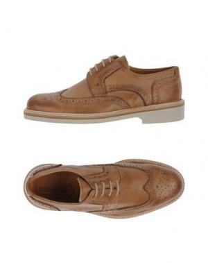 Обувь на шнурках BRUNO VERRI. Цвет: верблюжий