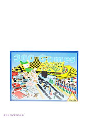 Настольный игровой набор 300 игр+шахматы Piatnik. Цвет: желтый, голубой