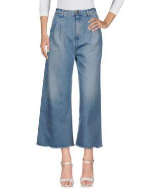 Джинсовые брюки RODEBJER. Цвет: синий