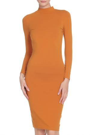 Прилегающее платье-карандаш American Apparel. Цвет: ochre
