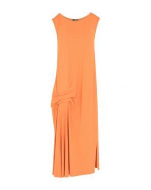 Платье длиной 3/4 B.YU. Цвет: оранжевый