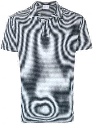 Полосатая футболка-поло Dondup. Цвет: синий