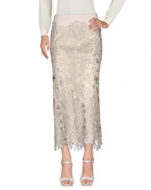 Длинная юбка DONNA KARAN. Цвет: серый