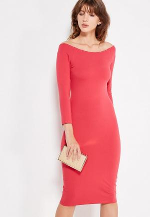 Платье oodji. Цвет: розовый