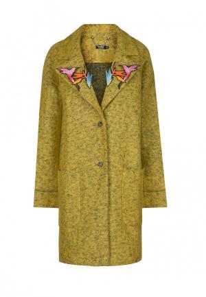 Пальто iSwag. Цвет: хаки