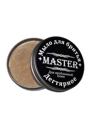 Мыло для бритья Дегтярное, 80 гр. MASTER. Цвет: коричневый