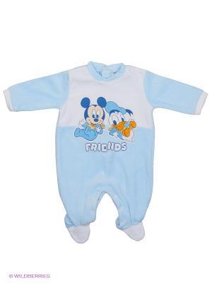 Комбинезон Disney. Цвет: голубой, белый