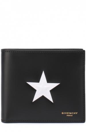 Кожаное портмоне с отделением для кредитный карт Givenchy. Цвет: черный