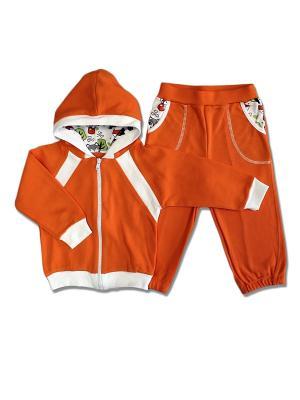 Комплект одежды LalaBaby. Цвет: оранжевый