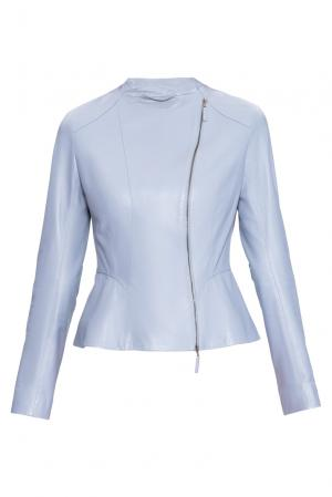 Кожаная куртка 160555 Izeta. Цвет: синий