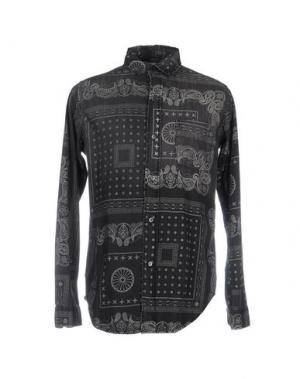 Джинсовая рубашка CURRENT/ELLIOTT. Цвет: стальной серый