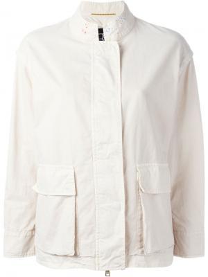 Куртка с принтом Bazar Deluxe. Цвет: телесный