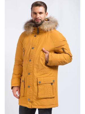 Пальто Finn Flare. Цвет: горчичный