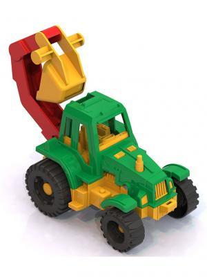 Трактор Ижора с ковшом Нордпласт.. Цвет: зеленый