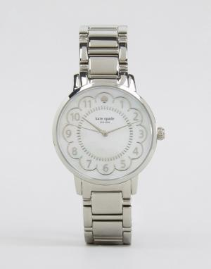 Kate Spade Серебристые часы Gramercy 1YRU0792. Цвет: серебряный