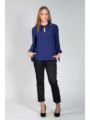 Блузка Лагуна. Цвет: темно-синий