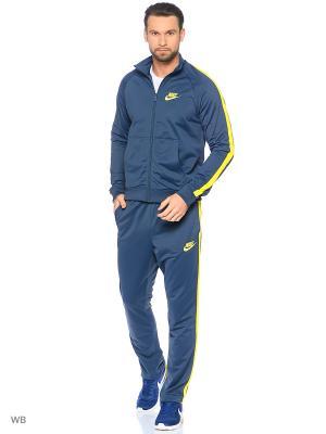 Спортивный костюм M NSW TRK SUIT PK SEASON Nike. Цвет: серо-голубой