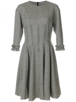 Платье с оборкой Marco De Vincenzo. Цвет: чёрный